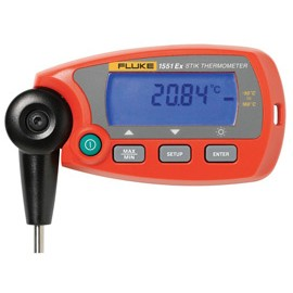 "FLUKE 1551A-9 STIK THERMOMETER, INTRINSICALLY SAFE, FIXED PRT, -50° TO 160°C OR -58° TO 320°F TEMPERATURE RANGE, 0.25"" STEM DIAMETER, 9"" STEM LENGTH"