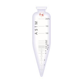 "Short Cone Tube (D) - L-K Industries Borosilicate Glass Short Cone Centrifuge Tubes, 100 mL, 6"" Height (Pack of 6)"